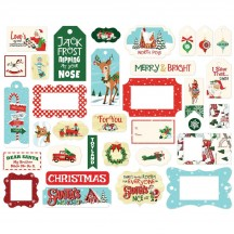 Carta Bella Santa's Workshop Frames & Tags Ephemera Die Cut Cardstock Christmas Pieces SW90025