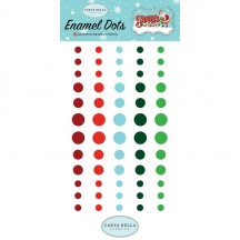 Carta Bella Santa's Workshop Enamel Dots - red, blue, green SW90028