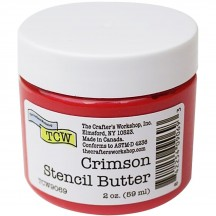 The Crafter's Workshop Crimson Red Stencil Butter TCW9069