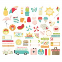 Simple Stories Summer Days Bits & Pieces Die-Cut Cardstock Ephemera Pieces 9115
