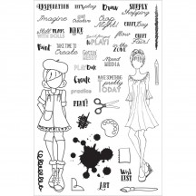My Prima Planner Julie Nutting Craft Day Clear Stamp Set 911683