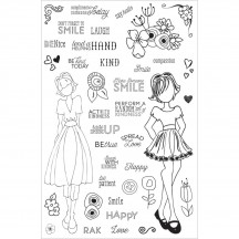 My Prima Planner Julie Nutting Make Kindness Happen Clear Stamp Set 911690