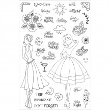 My Prima Planner Julie Nutting Calendar Musts Clear Stamp Set 911706