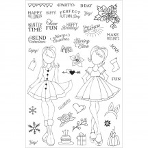 My Prima Planner Julie Nutting Holiday Bliss Clear Stamp Set 911713