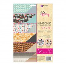 Prima Julie Nutting Dolls September October A4 Double-Sided Paper Pad 30 sheets 912307
