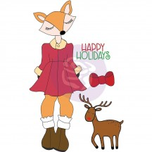 Prima Marketing Foxy Julie Nutting Mixed Media Christmas Doll Rubber Cling Stamp 912352