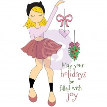 Prima Marketing Joy Julie Nutting Mixed Media Christmas Doll Rubber Cling Stamp 912369