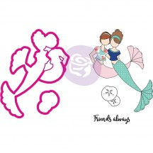 Prima Julie Nutting Mermaid Kisses Besties Doll Metal Die & Cling Stamp Set 912567