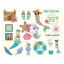Prima Julie Nutting Mermaid Kisses Die-Cut Cardstock Ephemera Pack 912710