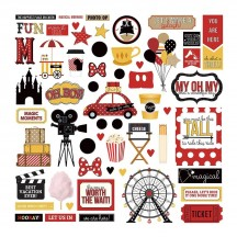 """Photoplay A Day At The Park 12""""x12"""" Element Shape Stickers ADP9177"""