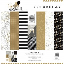 "Photoplay Hello New Year 2 Colorplay 12""x12"" Variety Paper Pack HNY9208"
