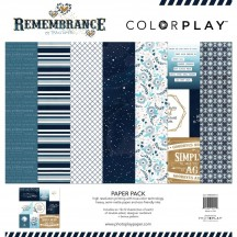 "Photoplay Remembrance Colorplay 12""x12"" Variety Paper Pack REM9214"