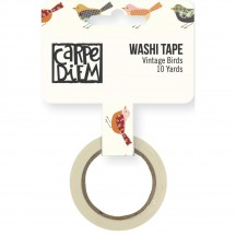 Simple Stories Vintage Blessings Washi Tape - Vintage Birds 9241