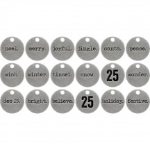 Tim Holtz Idea-ology Typed Tokens Christmas TH93629