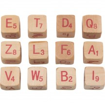 Tim Holtz Idea-ology Christmas Alpha Dice Red TH93654