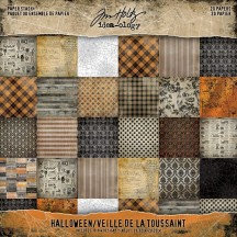 "Tim Holtz Idea-ology Halloween 8""x8"" Paper Stash TH93712"