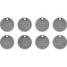 Tim Holtz Idea-ology Halloween Metal Quote Tokens TH93733