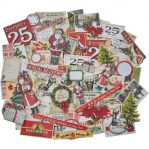 Tim Holtz Idea-ology Christmas Snippets Die Cut Ephemera Pack TH93765