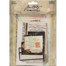 Tim Holtz Idea-ology Layers Remnants Die Cut Ephemera Pack TH93956