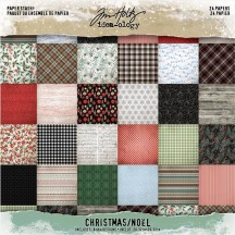 "Tim Holtz Idea-ology Christmas 8""x8"" Paper Stash TH93988"