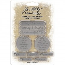 Tim Holtz Idea-ology Christmas Metal Adornments TH93991