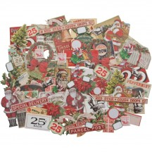 Tim Holtz Idea-ology Christmas Snippets Die Cut Ephemera Pack TH94009
