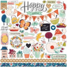 "Carta Bella Our House 12""x12"" Element Shape Stickers CBOH94014"
