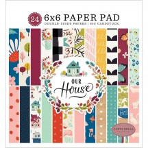 "Carta Bella Our House 6""x6"" Double-Sided Paper Pad CBOH94023"