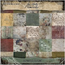 "Tim Holtz Idea-ology Departed 8""x8"" Halloween Paper Stash TH94054"