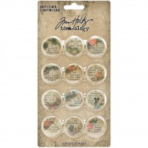 Tim Holtz Idea-ology Quote Flair Button Embellishments TH94116