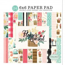 "Carta Bella Flower Market 6""x6"" Double-Sided Paper Pad MK96023"