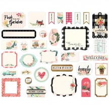 Carta Bella Flower Market Ephemera Die Cut Cardstock Pieces MK96024