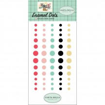 Carta Bella Flower Market Enamel Dots - pink, aqua, black, yellow MK96028