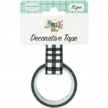 Carta Bella Flower Market Black & White Buffalo Decorative Washi Tape MK96029