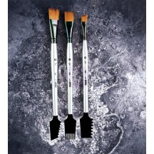 Prima Finnabair Art Basics Double-Sided Texture Brushes Set 1 963873