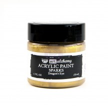 Prima Finnabair Art Alchemy Sparks Dragon's Eye Yellow Gold Acrylic Paint 50ml 964054