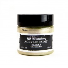 Prima Finnabair Art Alchemy Sparks Unicorn's Hair Pale Gold Acrylic Paint 50ml 964061