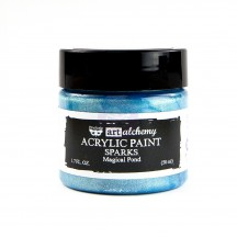 Prima Finnabair Art Alchemy Sparks Magical Pond Blue Acrylic Paint 50ml 964092