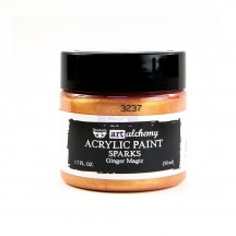 Prima Finnabair Art Alchemy Sparks Ginger Magic Acrylic Paint 50ml 964108