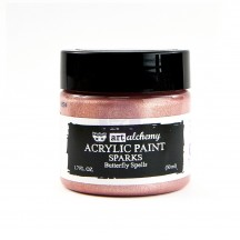 Prima Finnabair Art Alchemy Sparks Butterfly Spells Rose Gold Acrylic Paint 50ml 964122