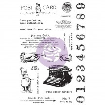 Prima Finnabair Art Daily Carte Postale Cling Rubber Stamp Set 964900