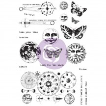 Prima Finnabair Art Daily Dream Without Fear Cling Rubber Stamp Set 964931