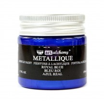 Prima Finnabair Art Alchemy Metallique Royal Blue Acrylic Paint 50ml - 965143