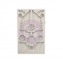 "Prima Finnabair Cogs and Wings 5""x8"" Decor Mould 966614"