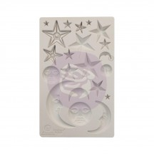 "Prima Finnabair Stars and Moons 5""x8"" Decor Mould 966638"