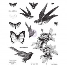 Prima Finnabair Wild and Free Mixed Media Cling Rubber Stamp Set 967048
