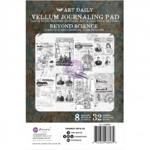 Prima Finnabair Art Daily Beyond Science Vellum Journaling Pad 968434