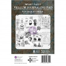 Prima Finnabair Art Daily Vintage Stories Vellum Journaling Pad 968441