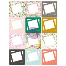 "Prima Marketing Instascrap 4""x4"" and 2""x2"" Die Cut Cardstock Frames 971267"