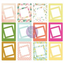 "Prima Marketing Instascrap 3""x4"" and 2""x2"" Die Cut Cardstock Frames 971274"